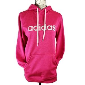 Adidas Climawarm Medium pink pullover hoodie